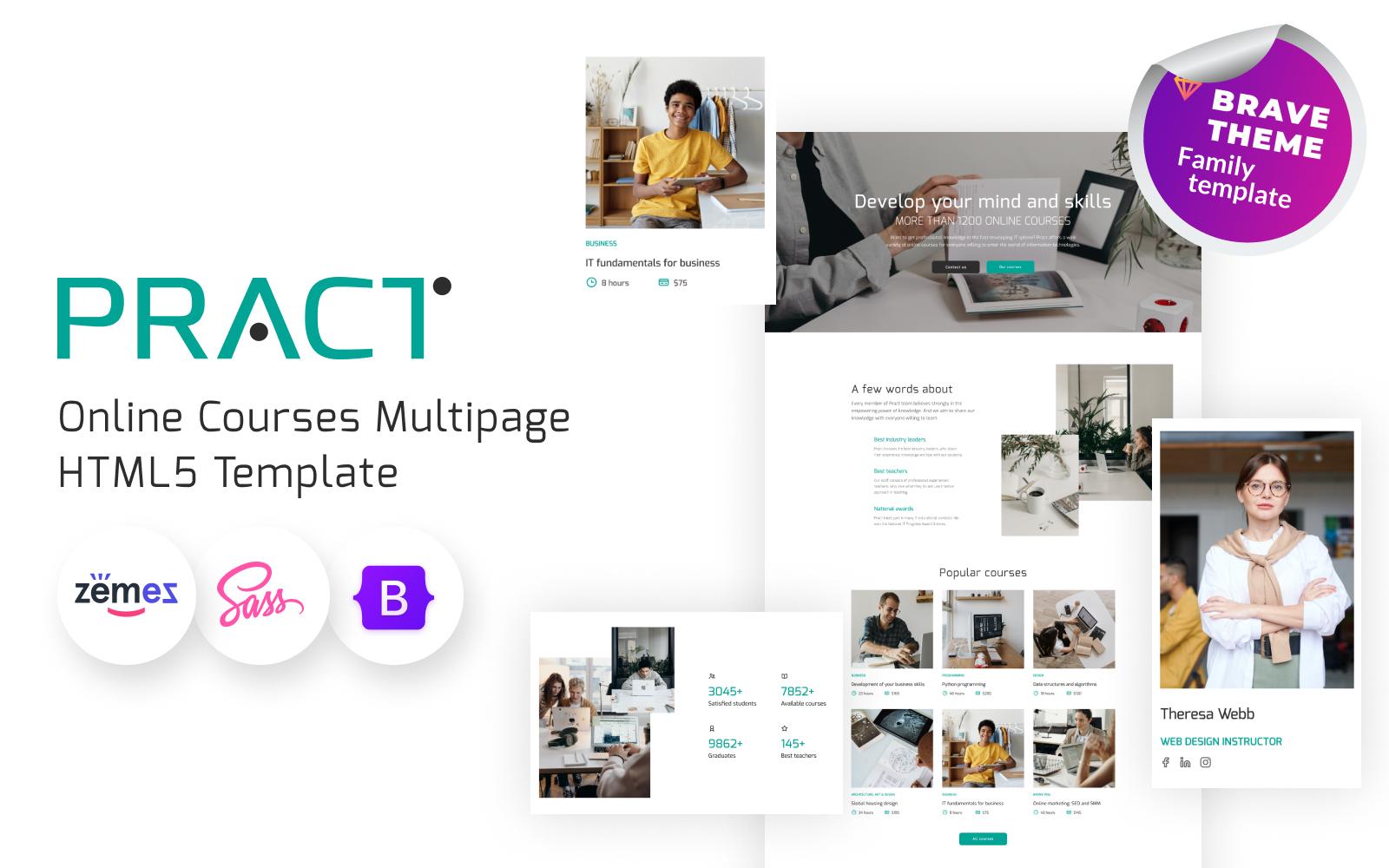 Pract - Online Courses Website Template
