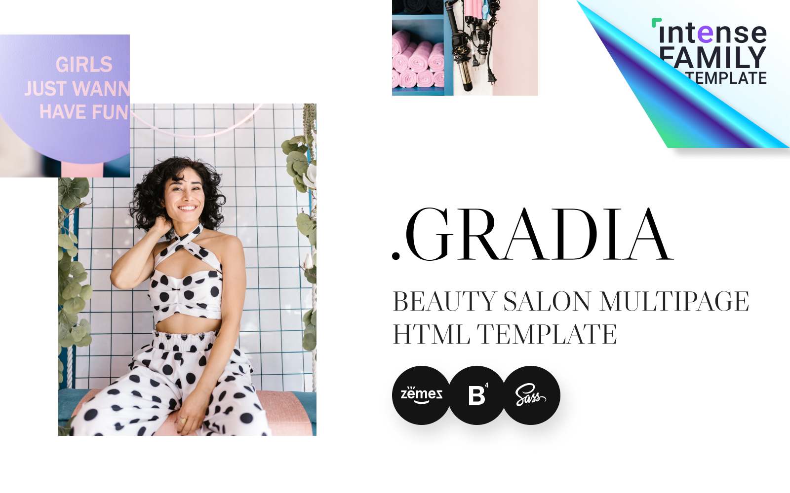 Gradia - Beauty Salon HTML5 Website Template