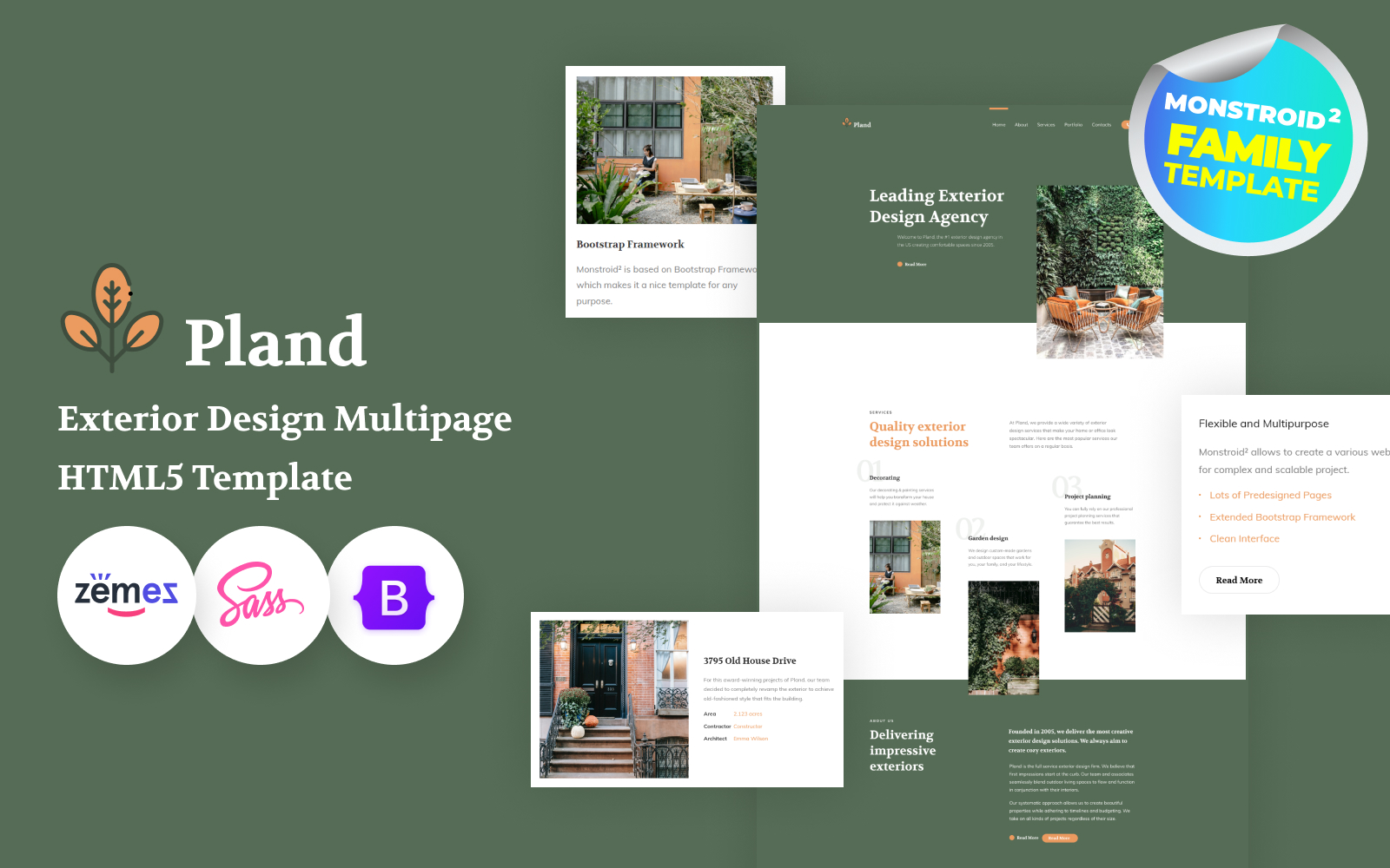 Pland - Exterior Design Studio Website Template