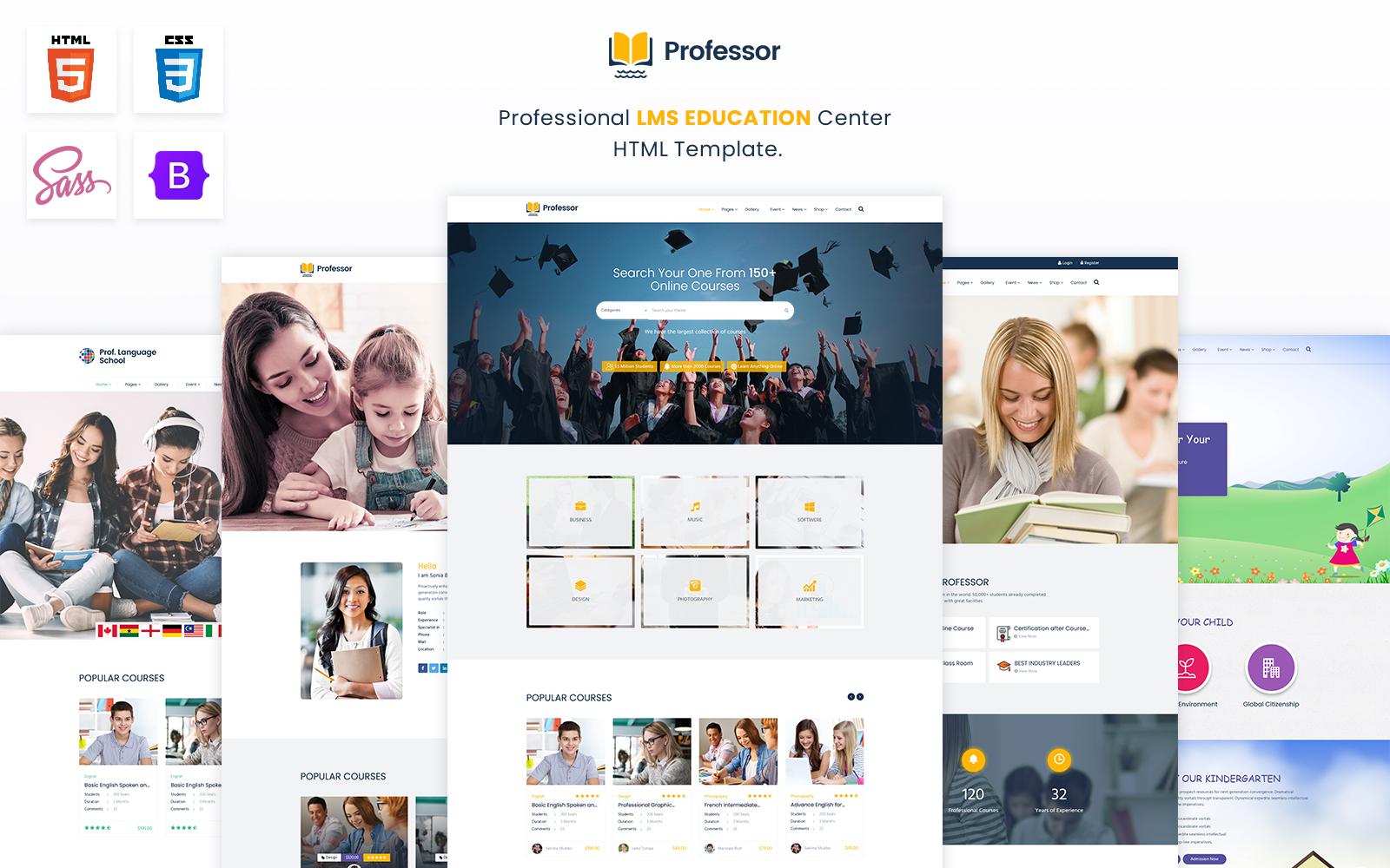 Professor-Professional LMS Education Center  HTML Template.