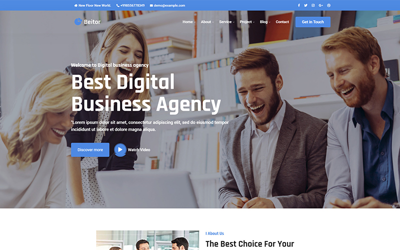 Beitor - Consulting Business Responsive Website Template