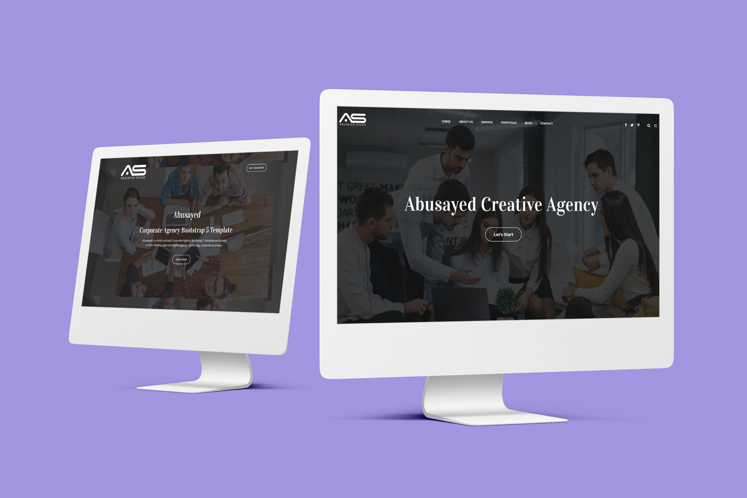 Abusayed - Corporate Agency Bootstrap 5 Website template