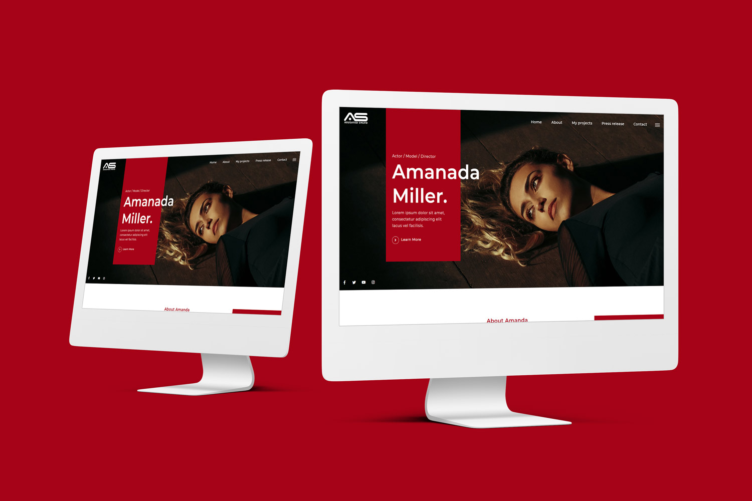 Abusayed | Celebrity HTML5 Landing Page Template
