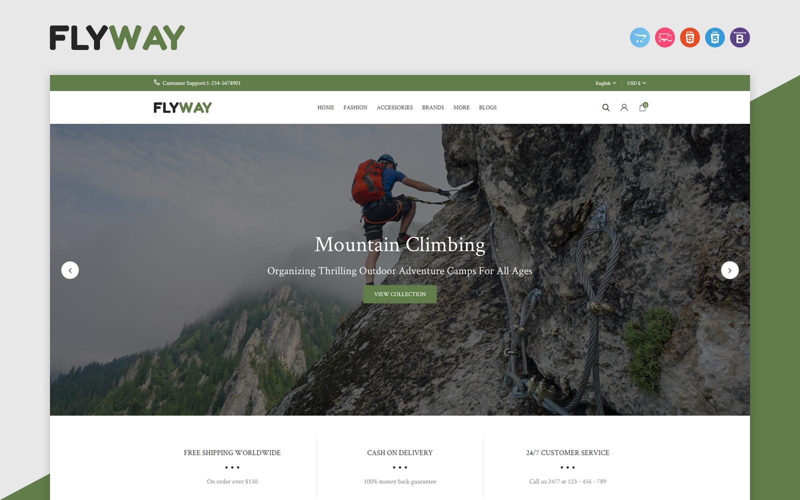 Flyway - Hiking, Camping & Trekking Responsive OpenCart Template