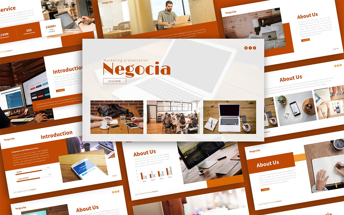 Negocia Marketing Presentation PowerPoint Template
