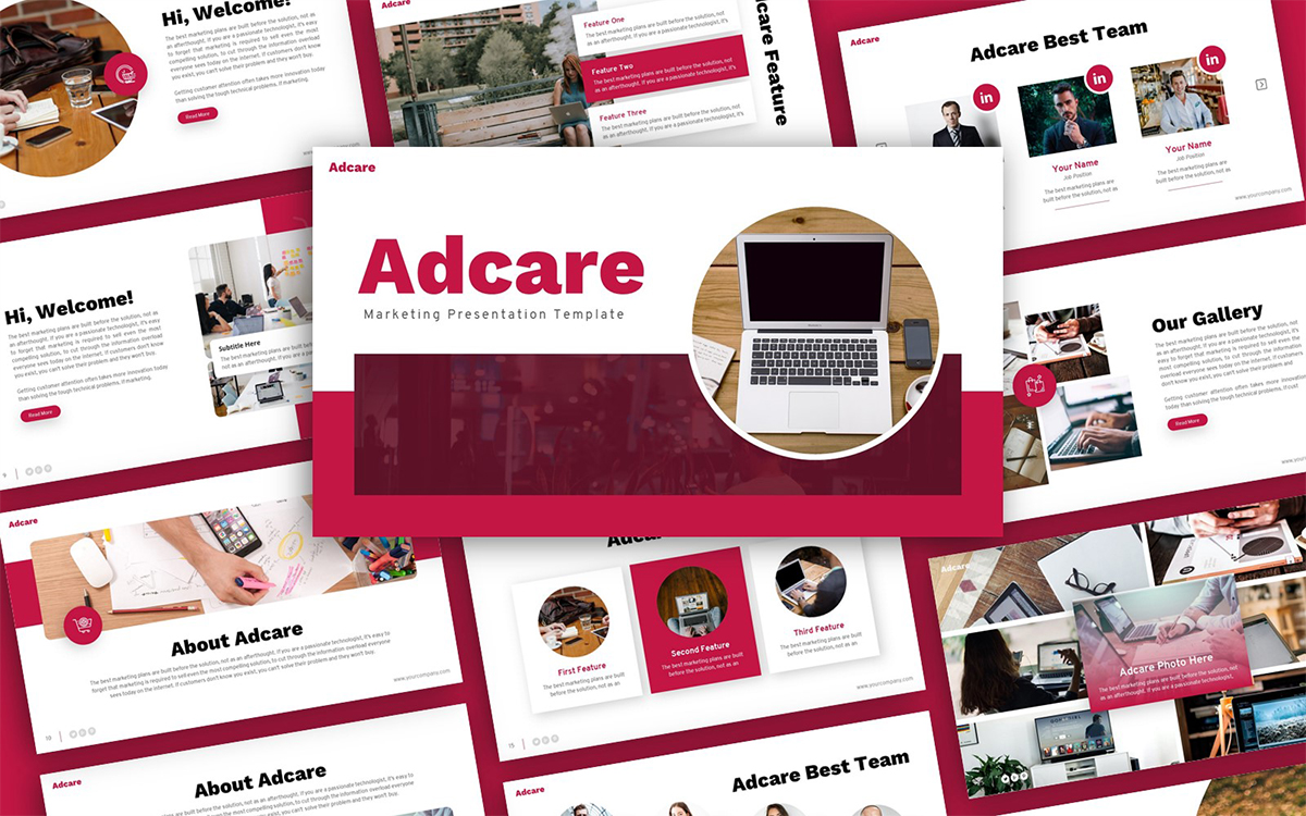Adcare Marketing Presentation PowerPoint Template