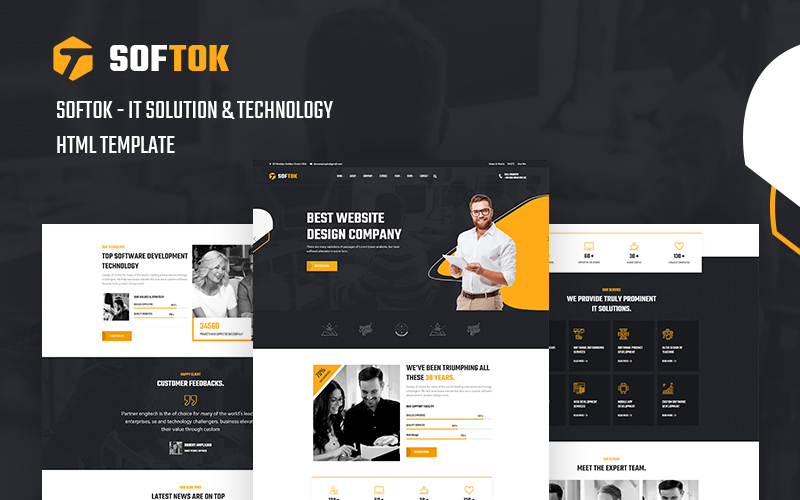 Softok - Technology and IT Solution Website Template