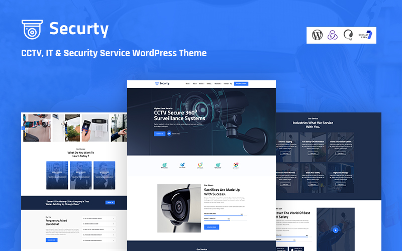 Securtv - CCTV, IT and Security Service Responsive WordPress Theme