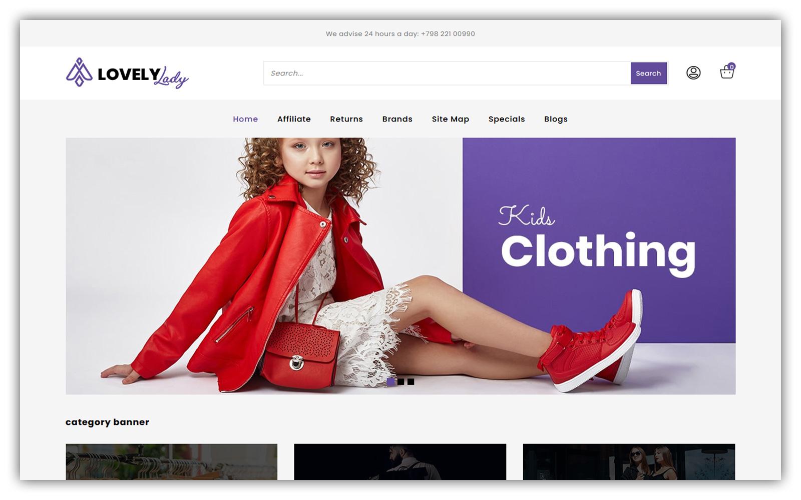 Lovelylady - Fashion Store Opencart Theme