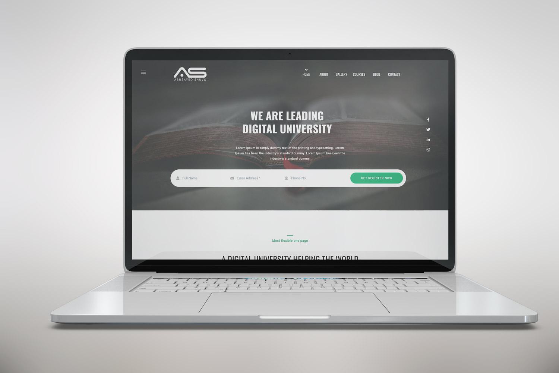Shuvo | Digital University HTML5 Landing Page Template