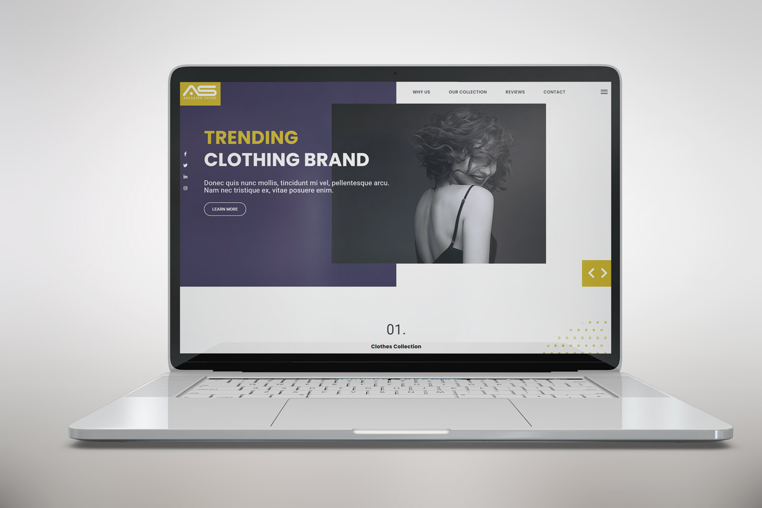 Abusayed   Clothing Brand HTML5 Landing Page Template