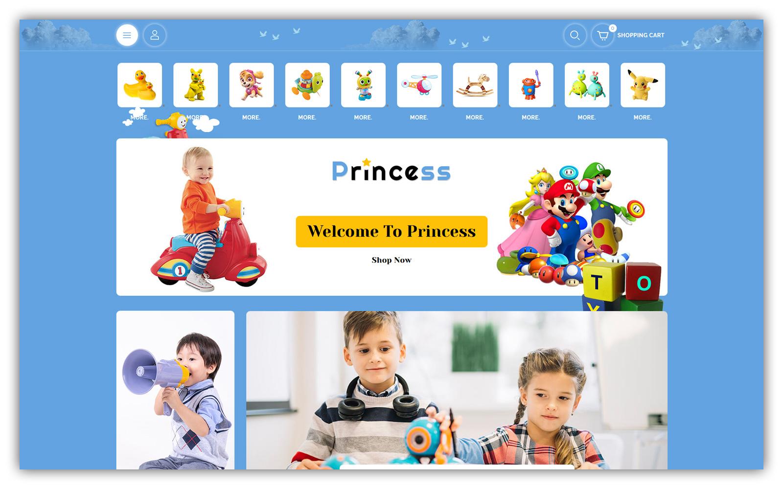 Princess - Kids store Opencart Theme