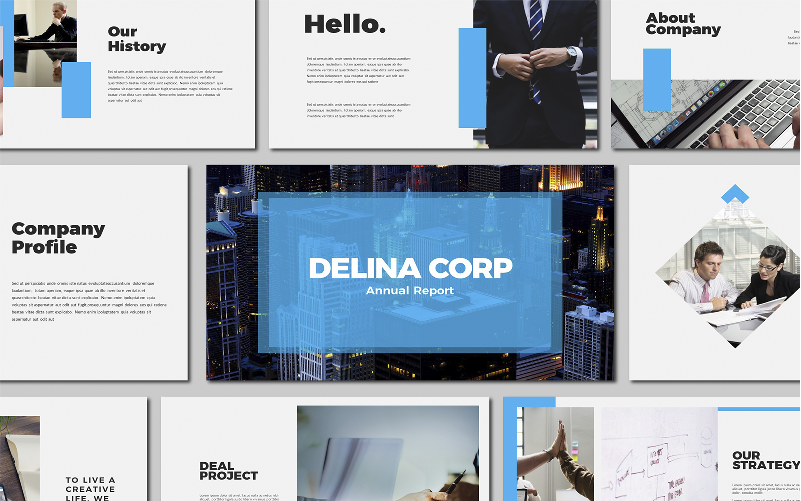 Delina Business Powerpoint Template