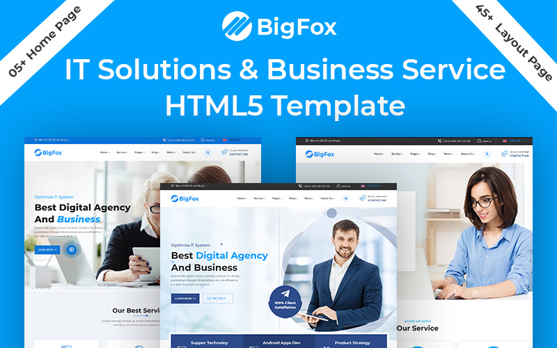 BigFox IT Solution Business Service HTML5 Template
