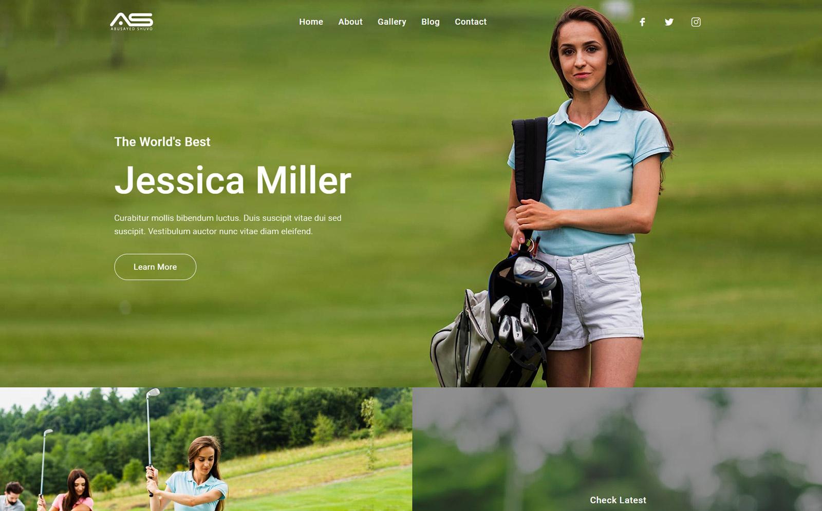Hasan | Golf Player HTML5 Template
