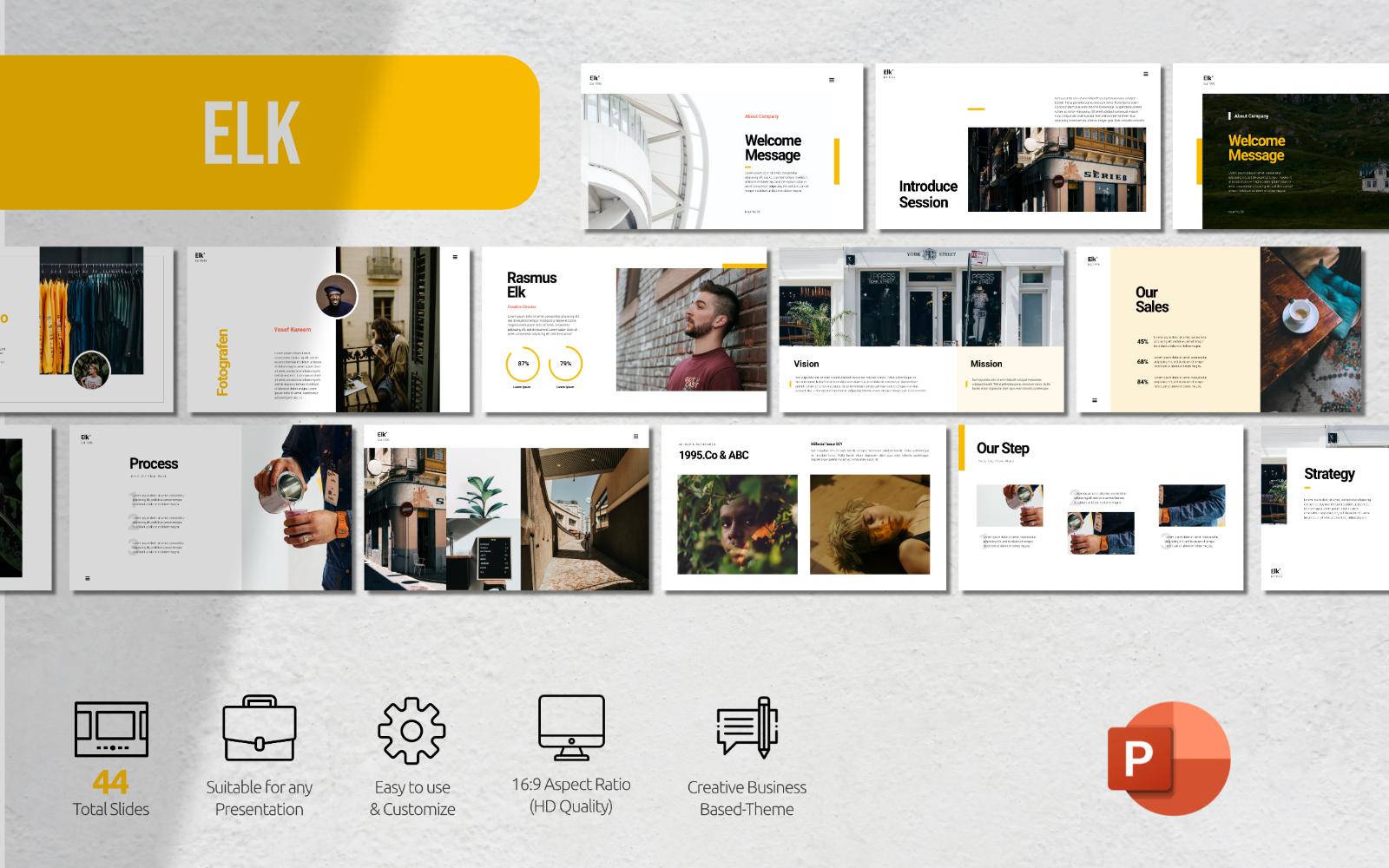Elk - Minimalist Presentation - Powerpoint Template