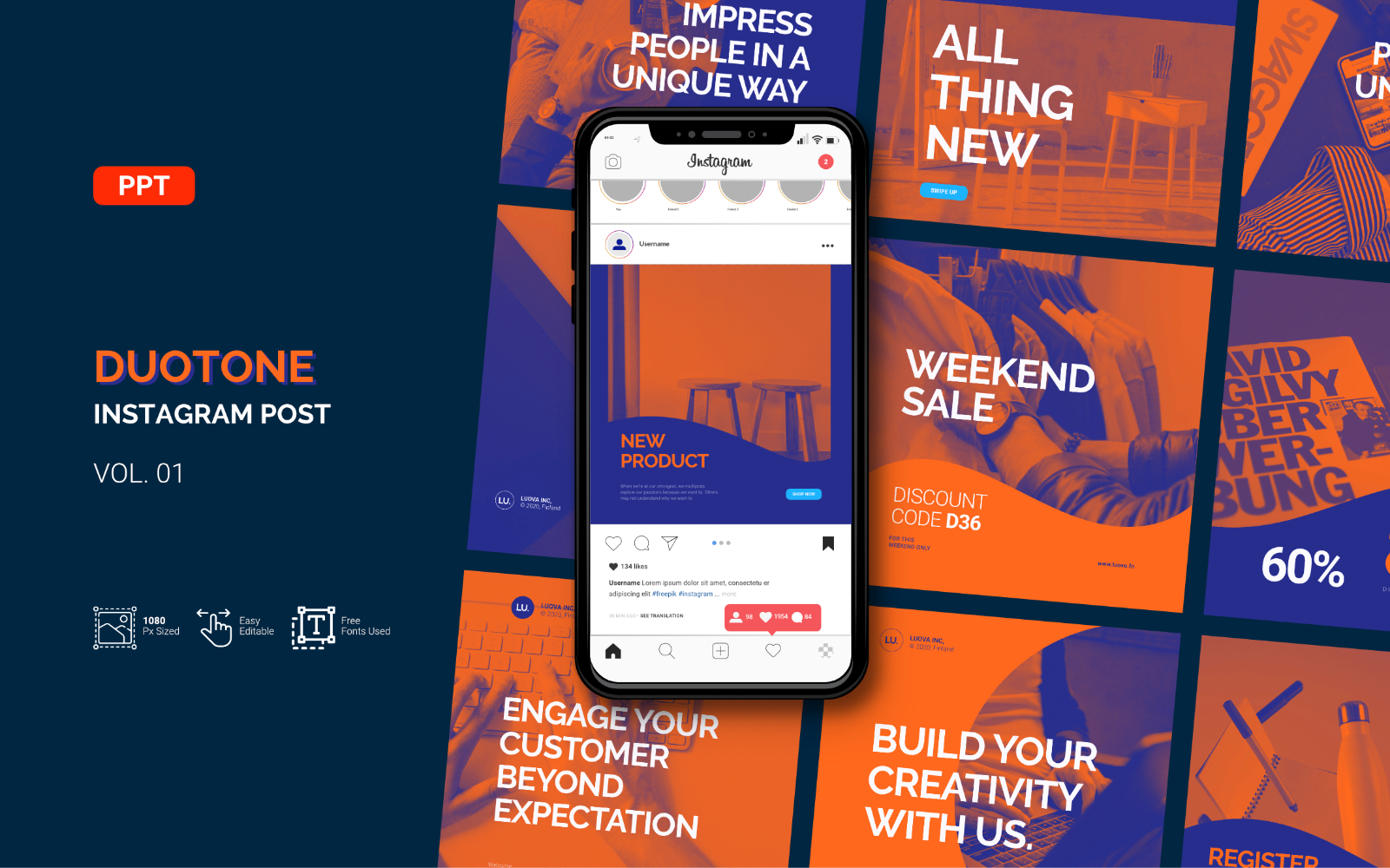 Duotone - Business Instagram Post - Powerpoint Template