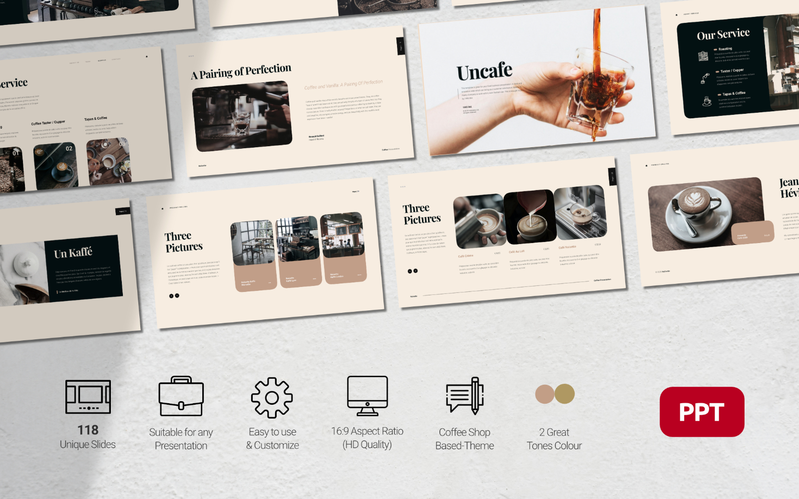 Noisette - Food and Beverages Business Presentation - Powerpoint Template