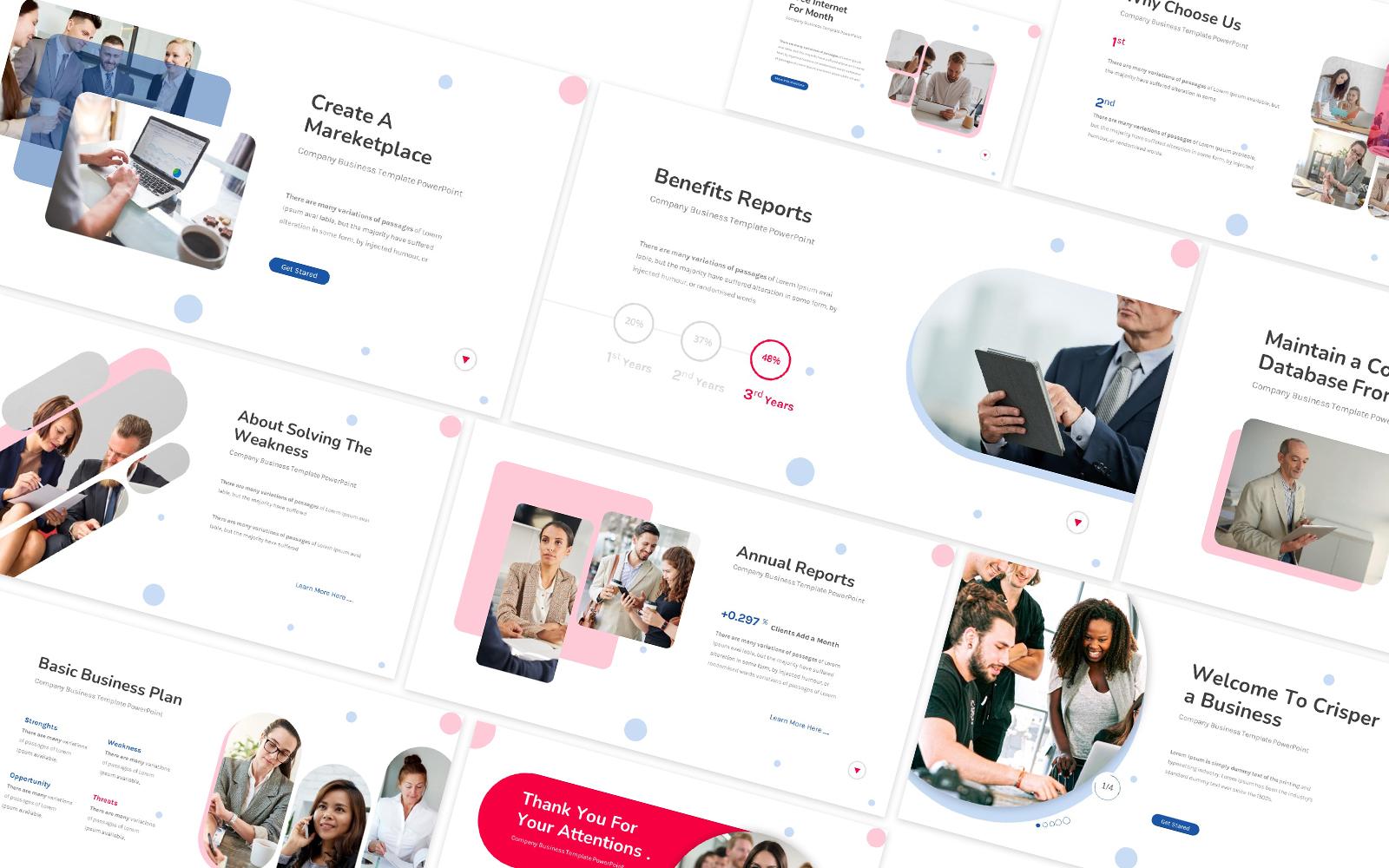 Crisper Business Powerpoint Template