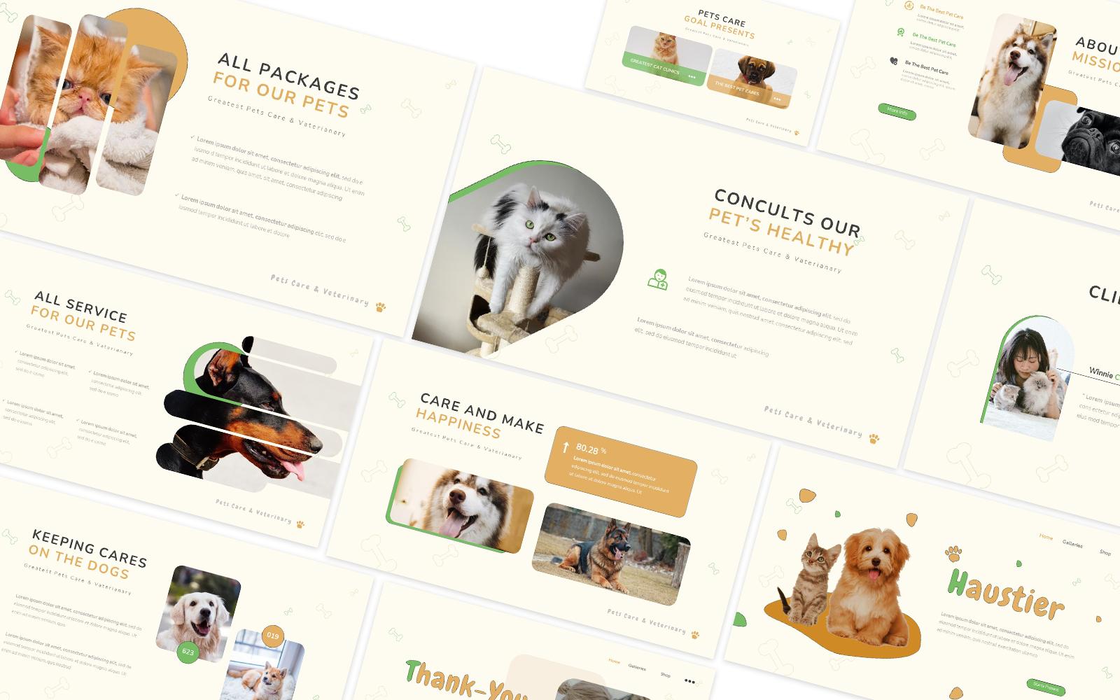 Haustier Pet Care Powerpoint Template