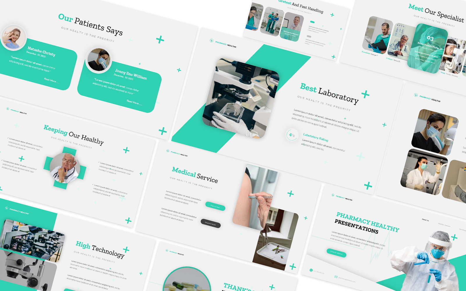 Pharmacy Healthy Powerpoint Template