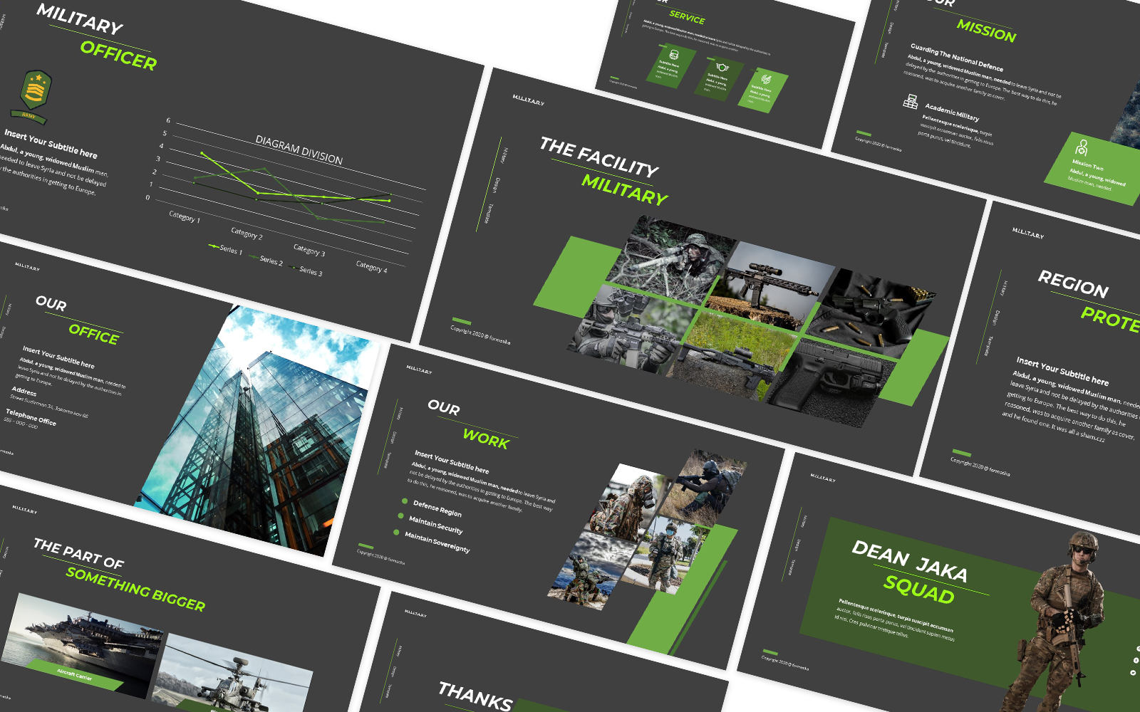 Dean Jaka Military Powerpoint Template