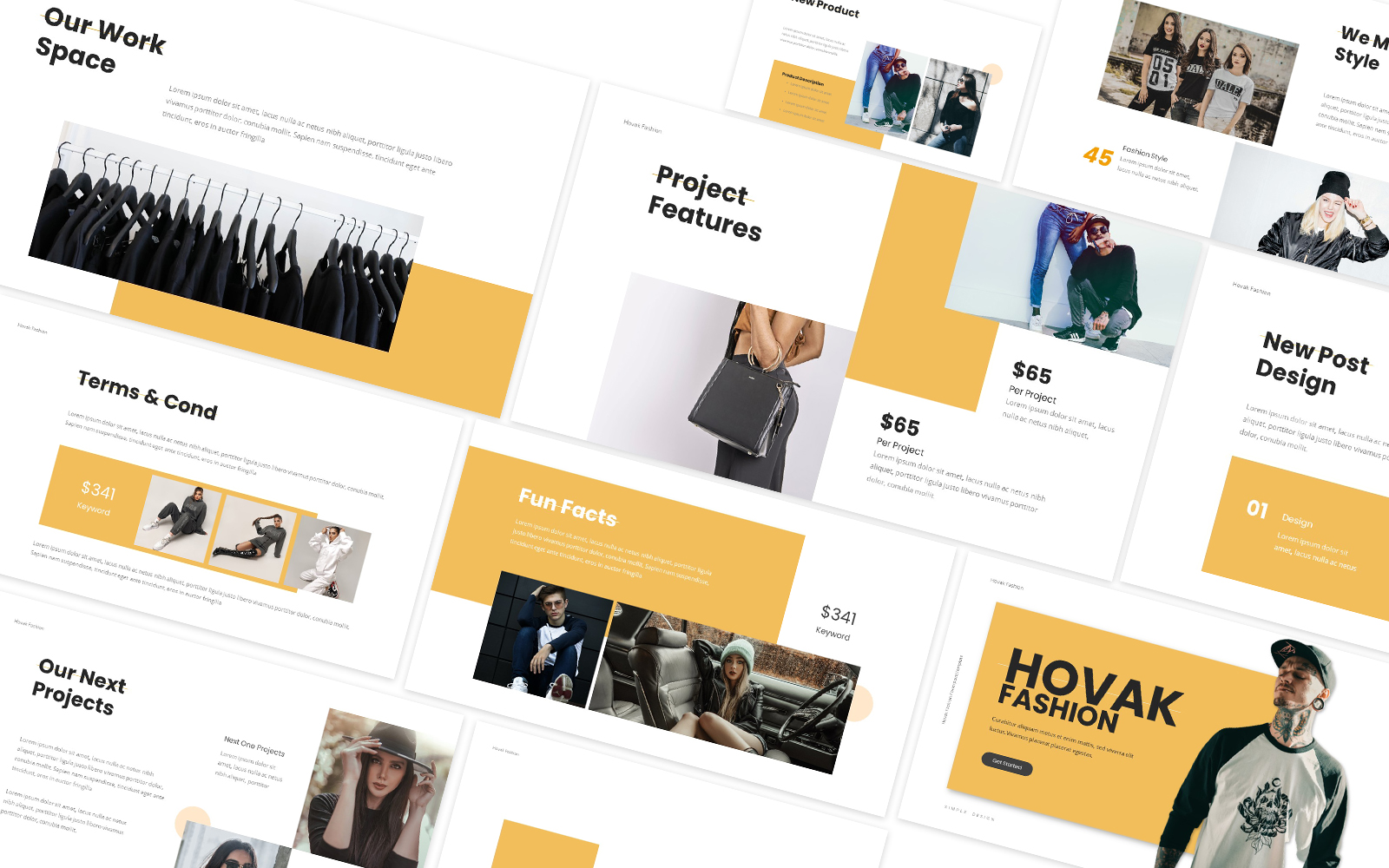 Hovak Fashion Powerpoint Template