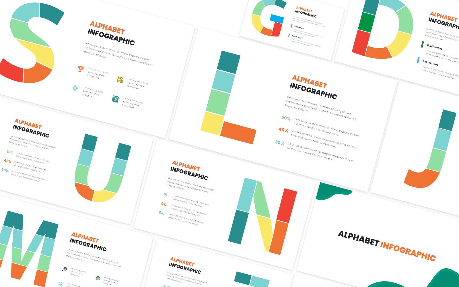 Alphabet Infographic Powerpoint Template