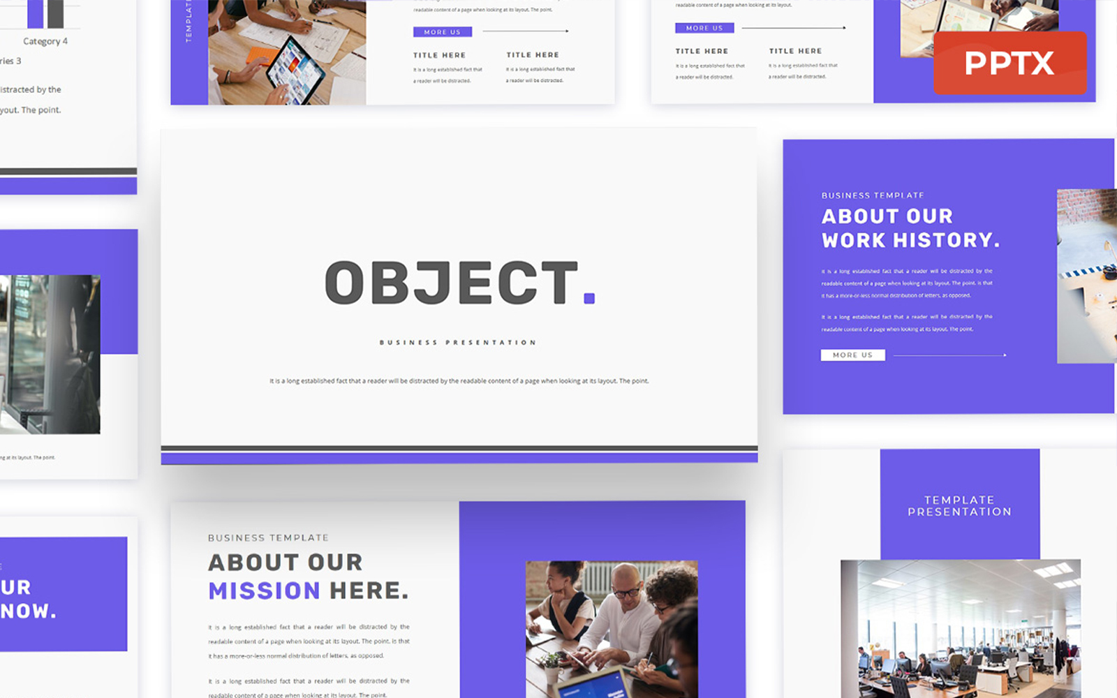 Object - Business Powerpoint Presentation Template
