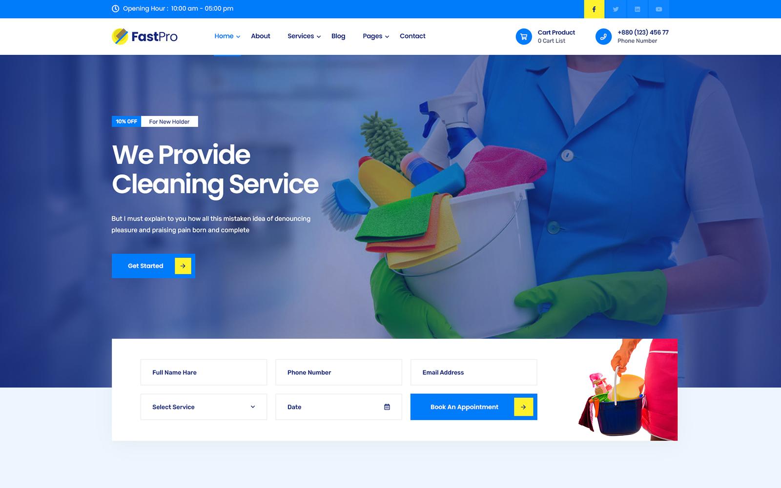 FastPro - Cleaning Services WordPress Theme