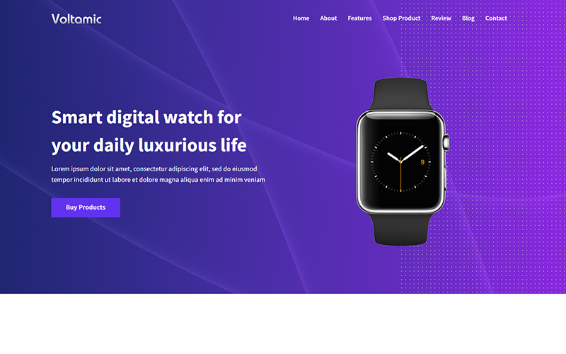 Voltamic - Product Landing Page Template