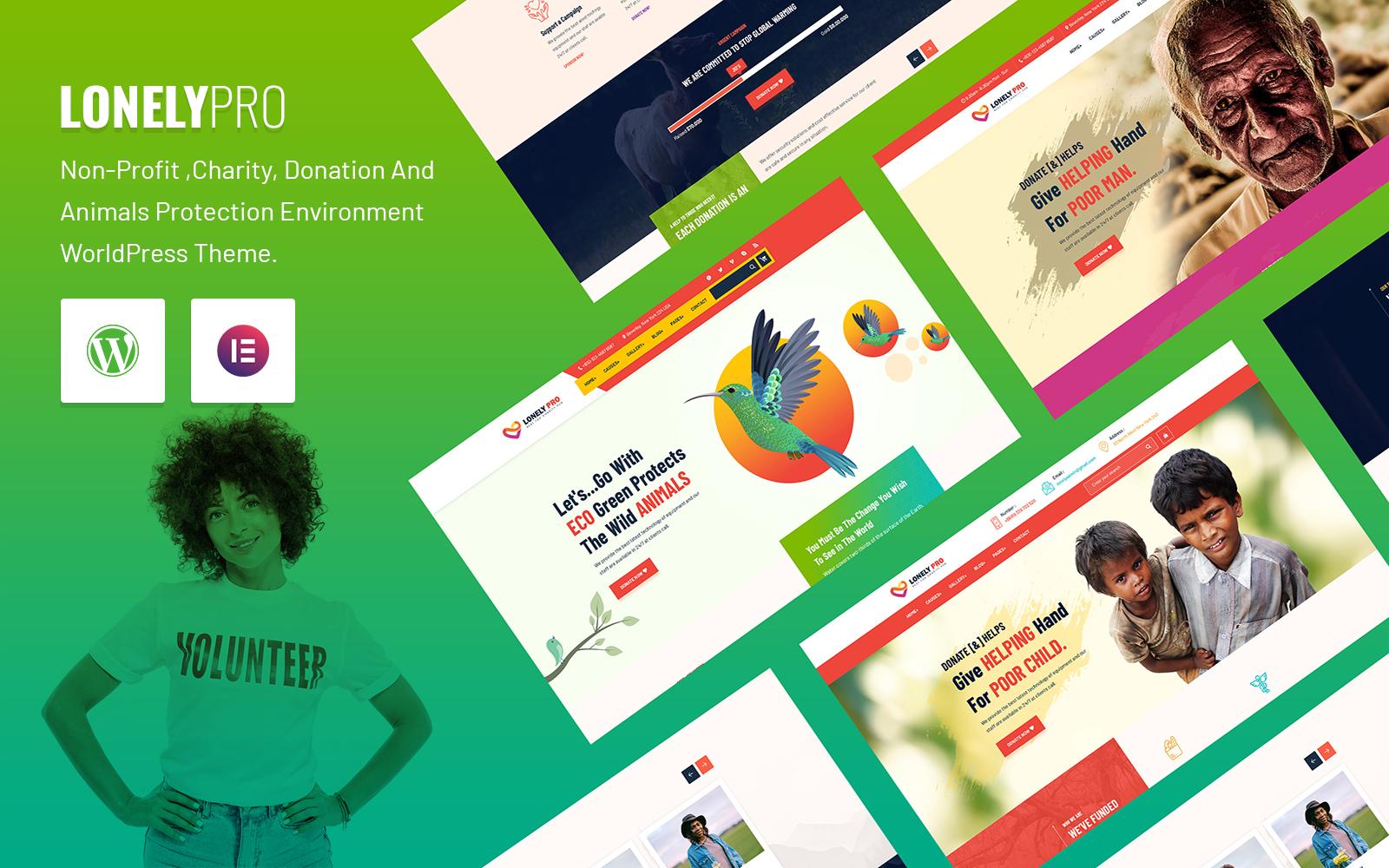 LonelyPro- Non-Profit Charity WordPress Theme.