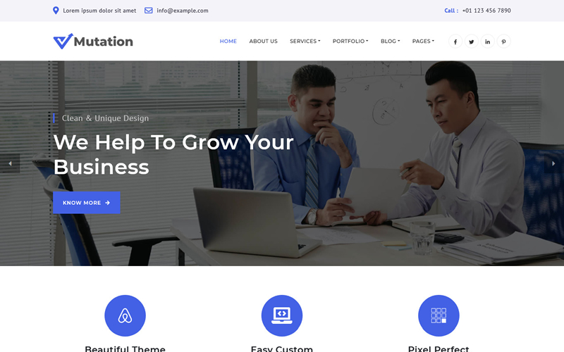 Mutation - Business Multipage HTML Template