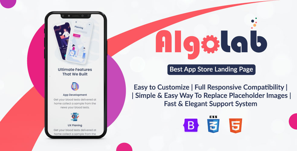 AlgoLab - Html App and Software Promoting Website