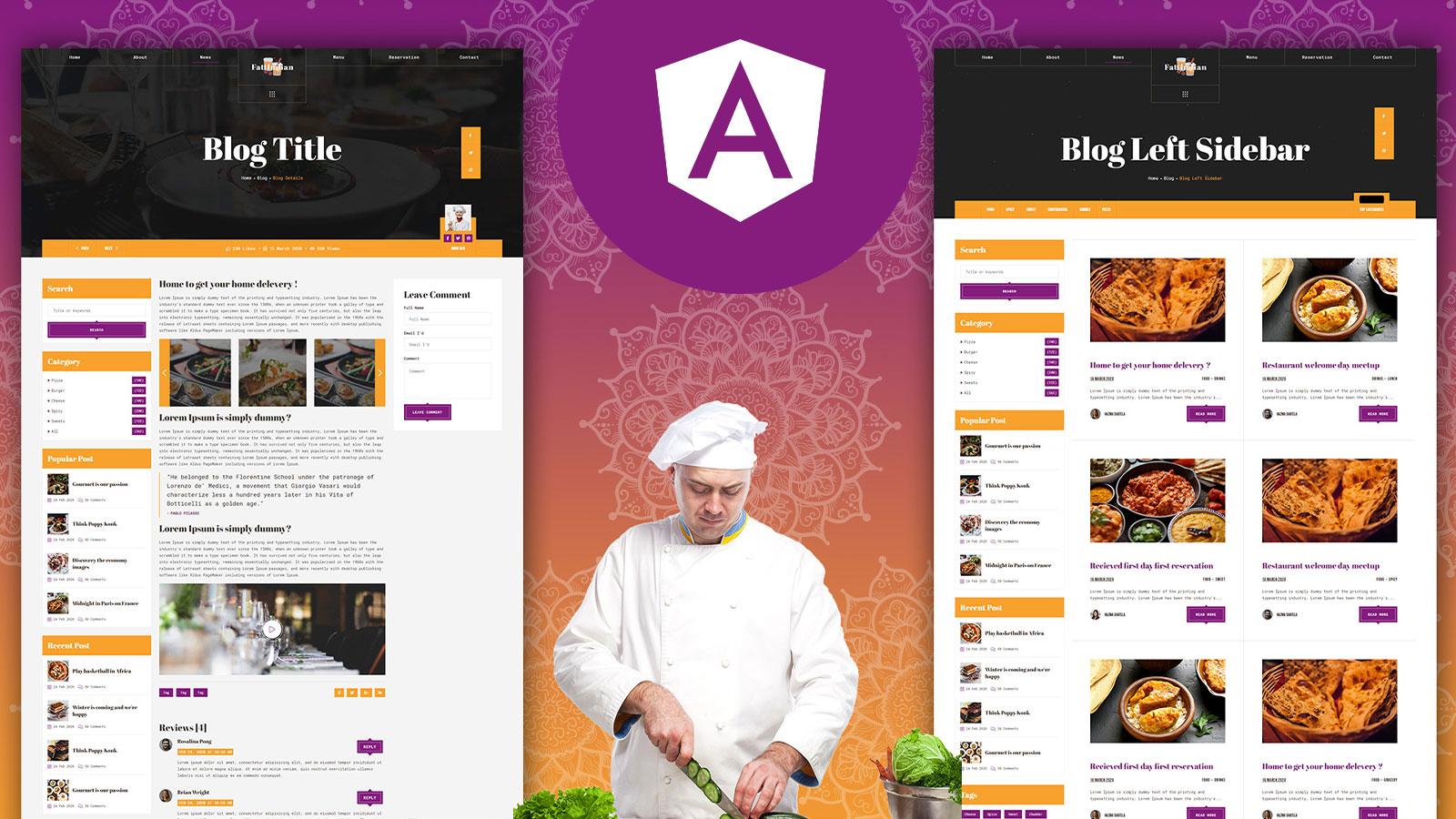 Fattaj – Indian Restaurant Angular Js Template