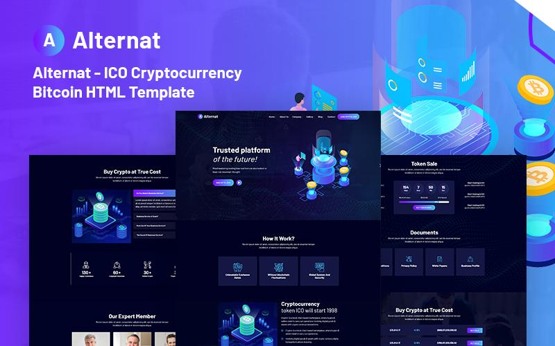 Alternat - ICO Cryptocurrency Bitcoin Responsive Website Template