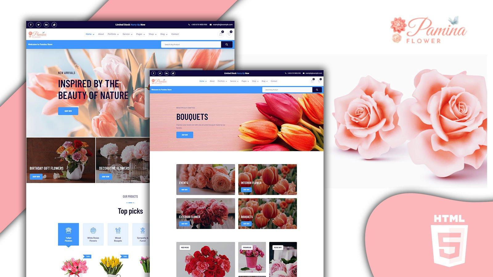Pamina Swift Florist and Flower Shop HTML5 Website template