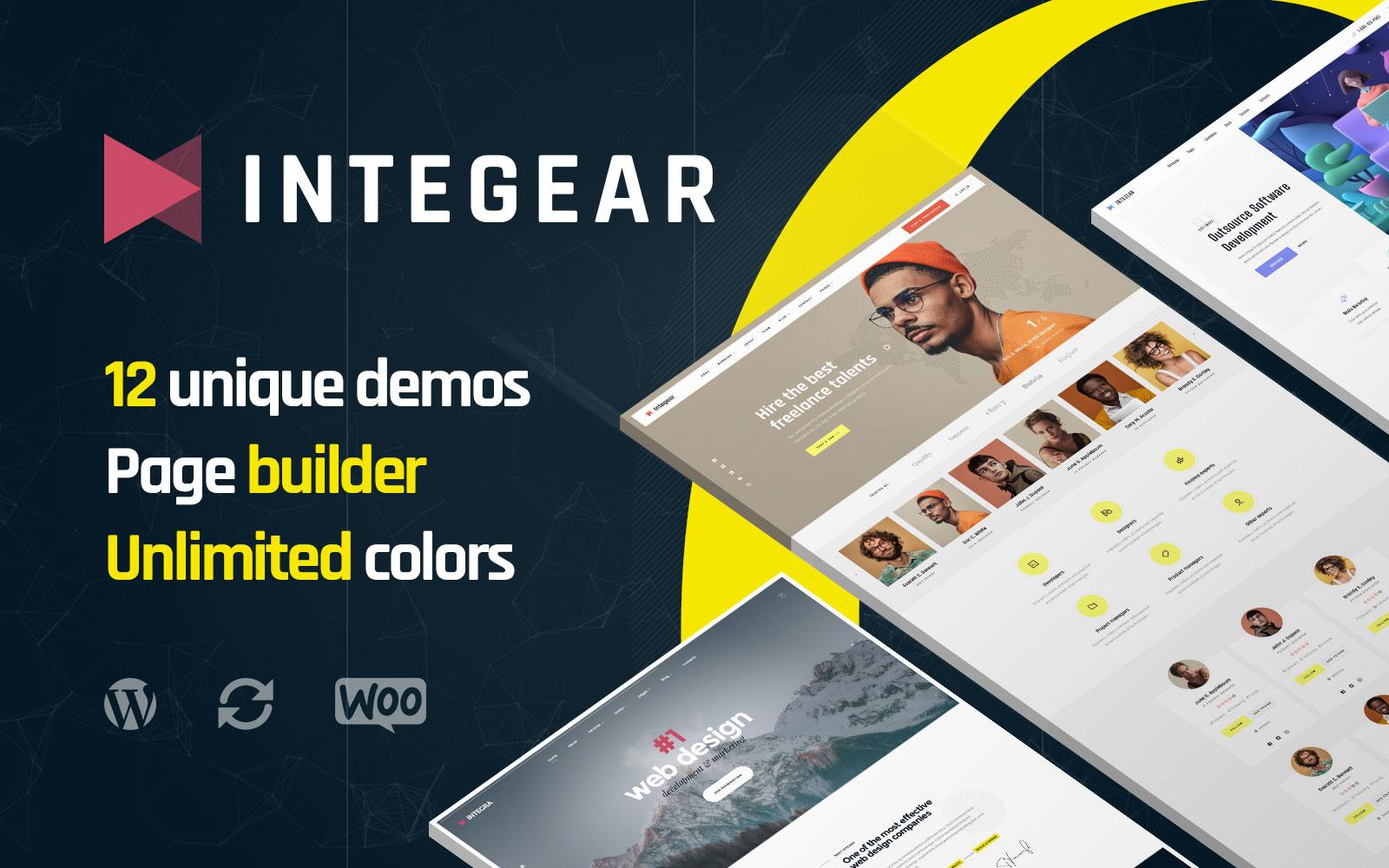 Integear - IT Company and Web Design Agency WordPress Theme
