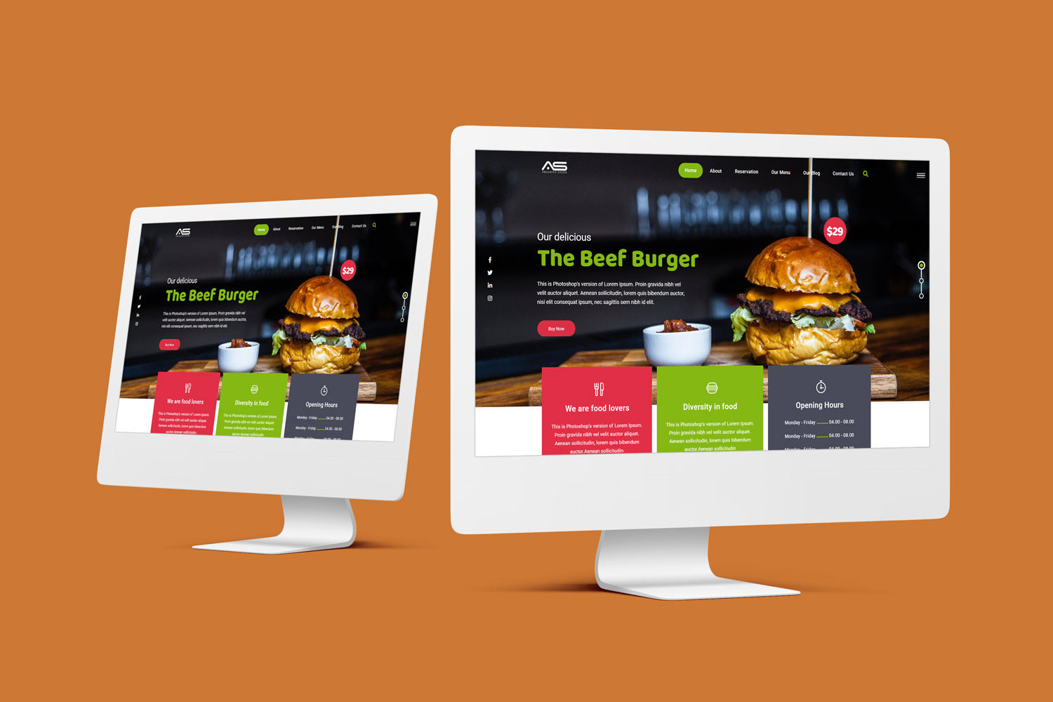 Bappy | Restaurant HTML5 Landing Page Template