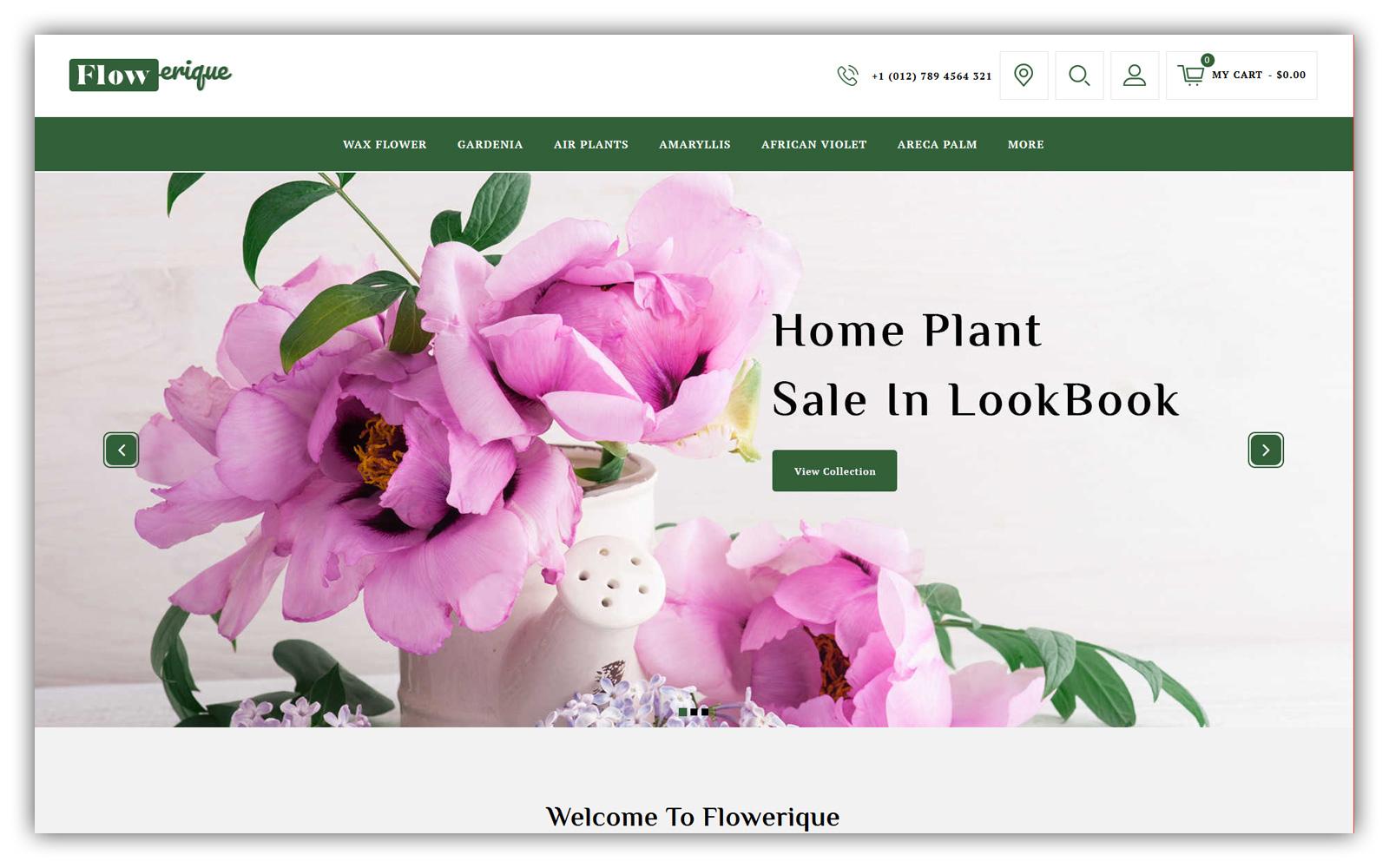 Flowerique - Plant Store Opencart Theme