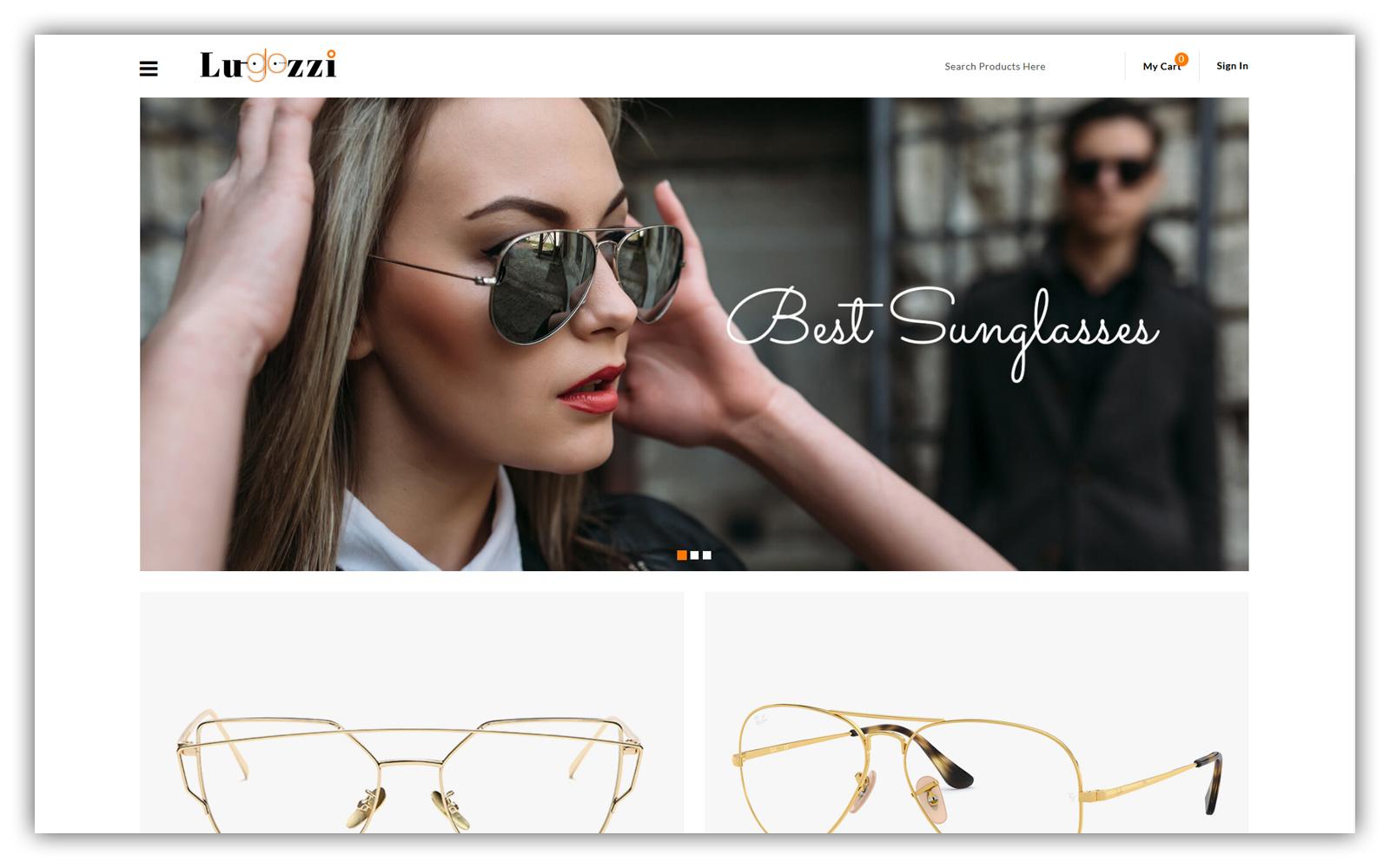 Lugozzi - Sunglasses Store Opencart Theme