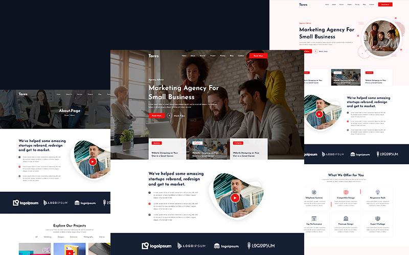 Tares-Creative Agency HTML Website Template