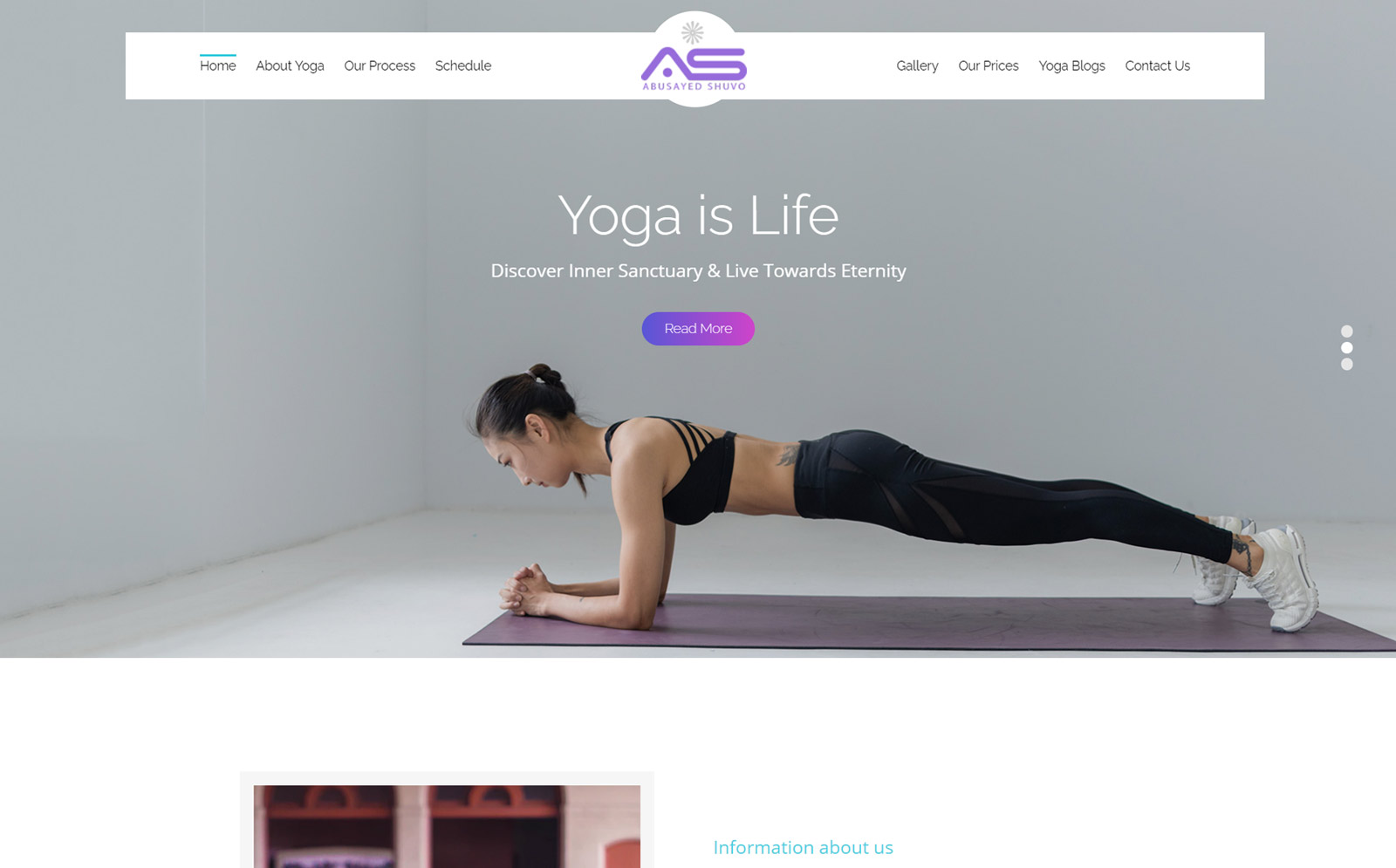 Abusayed   Yoga HTML5 Website Template