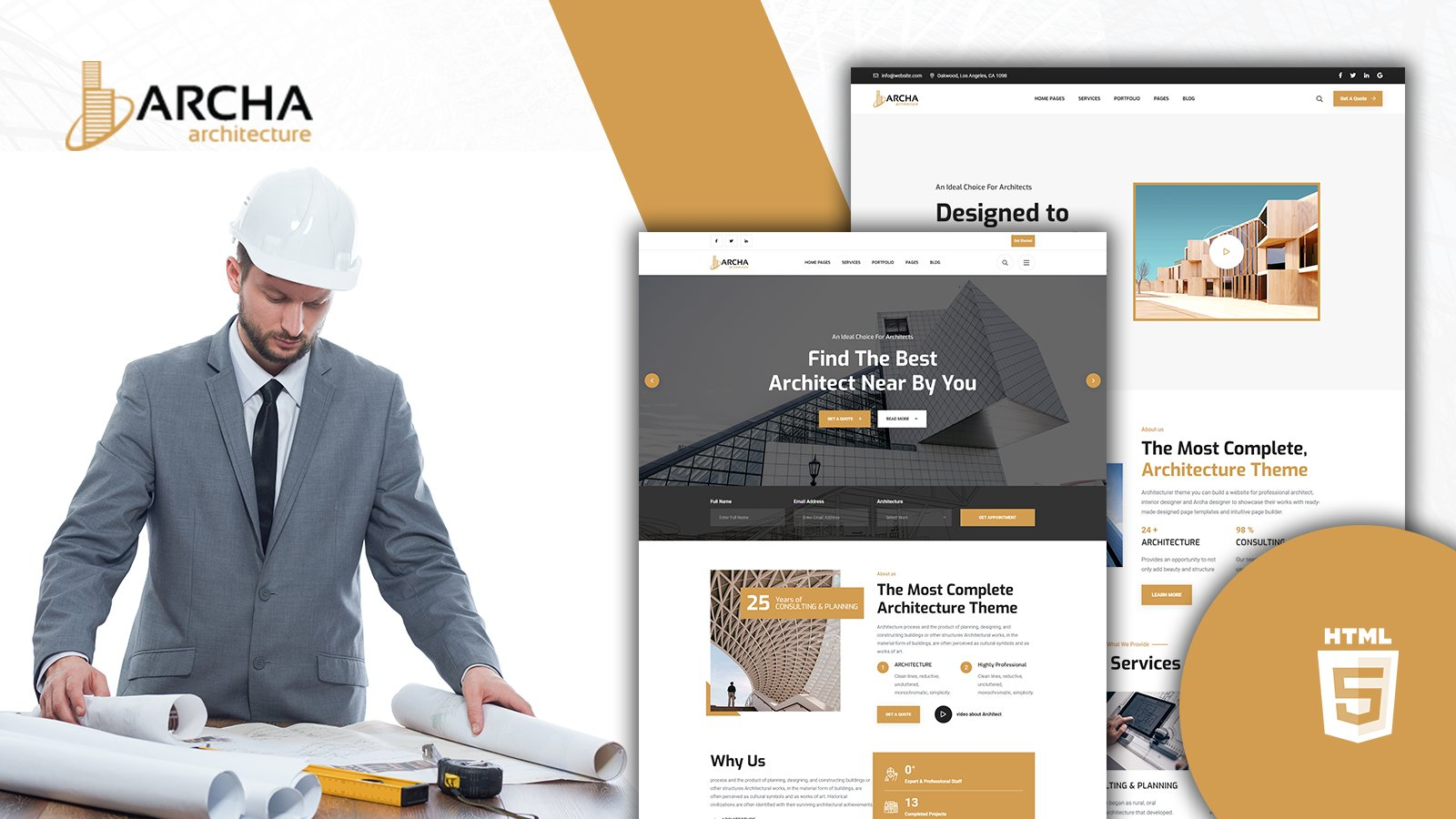 Archa Contemporary Architects HTML5 Template