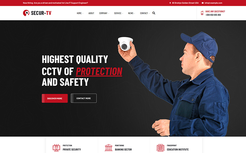 Securtv - CCTV & Security Responsive Website Template