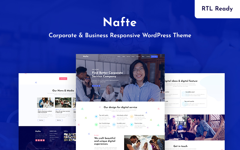 Nafte - Corporate Business WordPress Theme