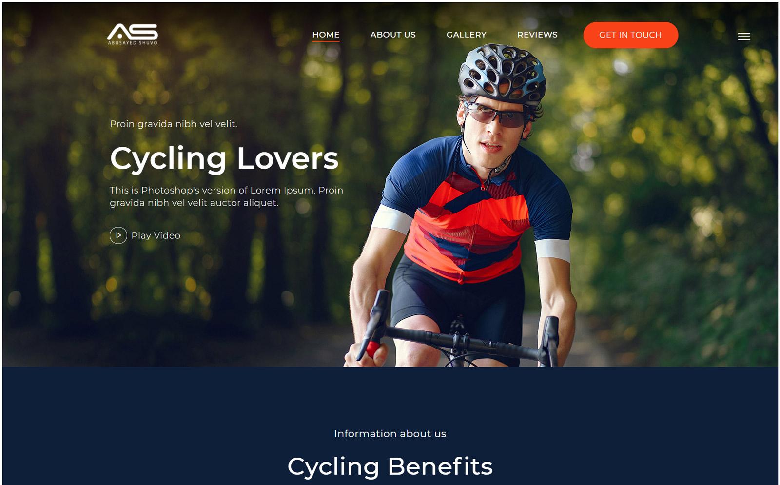 Shuvo | Cycling HTML5 Landing Page Template