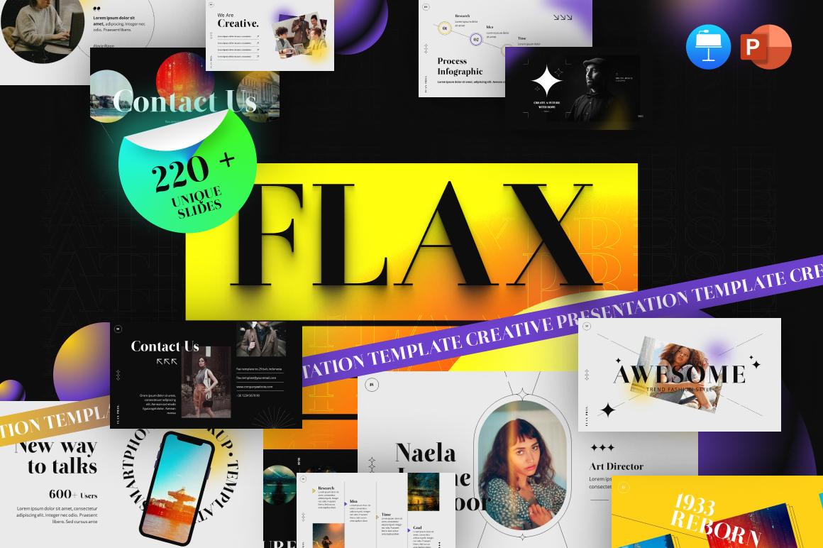 Flax Multipurpose Modern PowerPoint Template