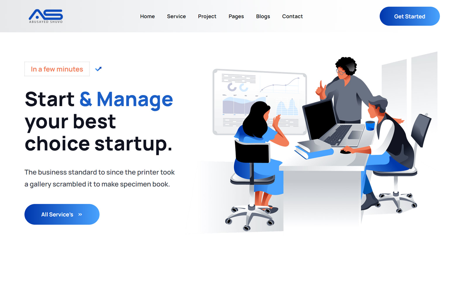 Abusayed - Startup Agency Bootstrap 5 Website template