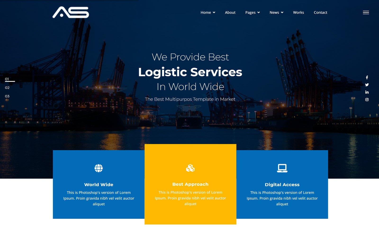 Rakib | Logistic HTML5 Website Template